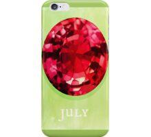 Watercolor Birthstone Gems, July iPhone Case/Skin