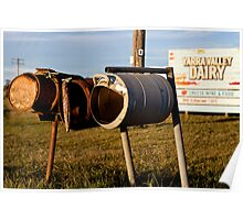 Country Letterboxes Poster