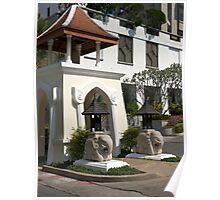 Streetscape, Hua Hin Hilton Hotel. Poster