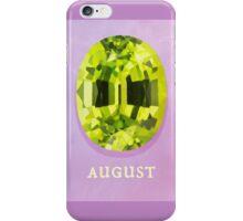 Watercolor Birthstone Gems, August iPhone Case/Skin