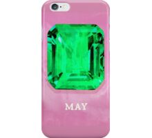 Watercolor Birthstone Gems, May iPhone Case/Skin