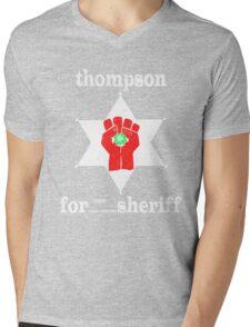 Thompson For Sheriff Mens V-Neck T-Shirt