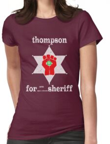 Thompson For Sheriff Womens Fitted T-Shirt
