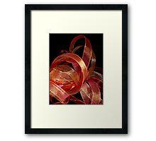 Ribbon works Framed Print