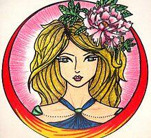 """Girl with Flower"" by Katriya Kramme"