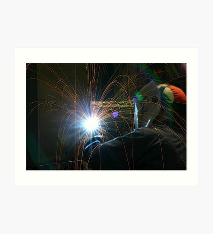 Welding Stainless Steel Art Print