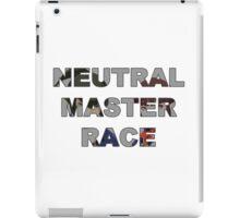NEUTRAL MASTER RACE iPad Case/Skin