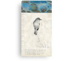 Bird Poem Canvas Print