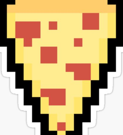 Pixel Pizza Sticker