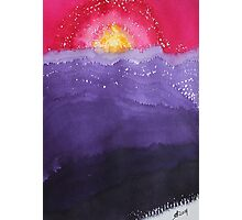 Fire on the Mountain original painting Photographic Print