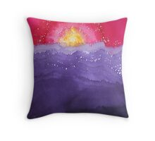 Fire on the Mountain original painting Throw Pillow