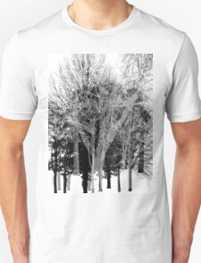 Gray-scale Forest T-Shirt