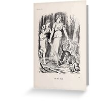Cartoons by Sir John Tenniel selected from the pages of Punch 1901 0073 On the Trail Greeting Card