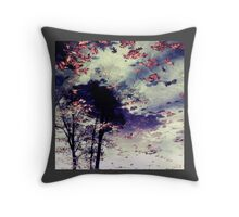 Water and Fall Throw Pillow