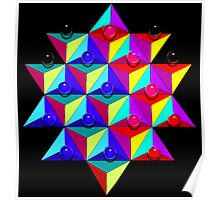 Triangles Form A Star Or Does This Look Like Chinese Checkers? Poster