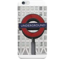 London Underground at Canary Wharf iPhone Case/Skin