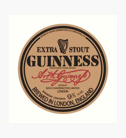 Old Style Guinness Logo - David Gilmour Art Print