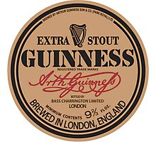 Old Style Guinness Logo - David Gilmour Photographic Print