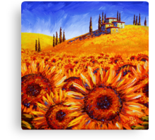 Tuscany Sunflower Hills Canvas Print