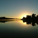 glass sunrise - Towns River NT. by Blackie