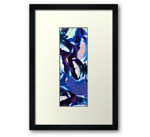 Abstracted Butterflies in Fauvist Colors #19 Framed Print