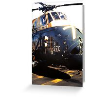 Westland Wessex ASW Helicopter Greeting Card