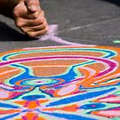 Artist's Hand & Colored Sand by AmyRalston