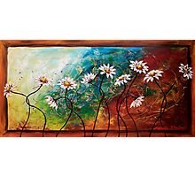 The Tangle of Daisies Photographic Print