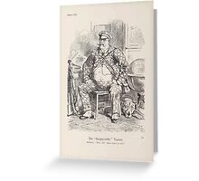 Cartoons by Sir John Tenniel selected from the pages of Punch 1901 0082 The Irrepressible Tourist Greeting Card
