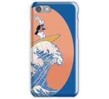 White Rabbit Surfing iPhone Case/Skin