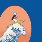 White Rabbit Surfing by SusanSanford