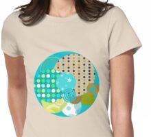 Beach Ball - Quasi-Quilt Womens Fitted T-Shirt
