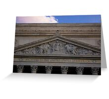 Archives of the U.S.A at Dusk Greeting Card