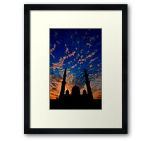 The Night Divides the Day Framed Print