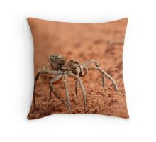 Wolf Spider Mother Throw Pillow