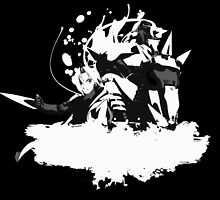 Elric Brothers black/white version  by kurticide