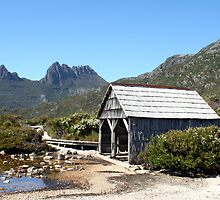 Old Cradle Mountain Boat Shed by Sprinkla