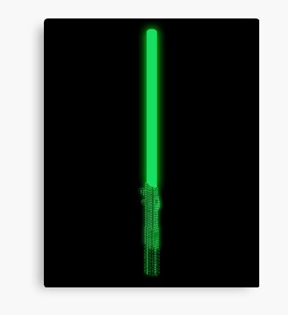 Neo´s Lightsaber Canvas Print