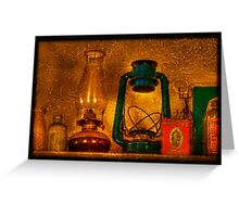 Bottles And Lamps Greeting Card