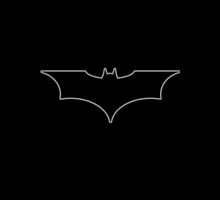 Batman (Gray Outline) by LazyQueen