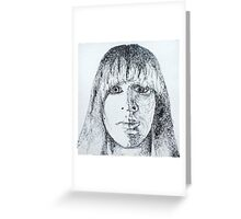Self portrait - Shadow Greeting Card