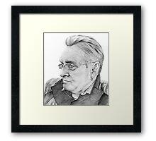 Alan Glover Pencil Portrait Framed Print