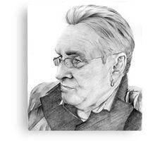 Alan Glover Pencil Portrait Canvas Print