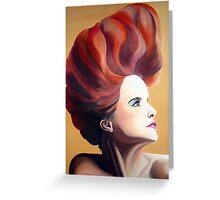 Paloma Faith oil painting Greeting Card