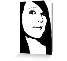 Self Portrait  -Two tone Greeting Card