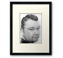 Stephen Pencil Portrait Framed Print