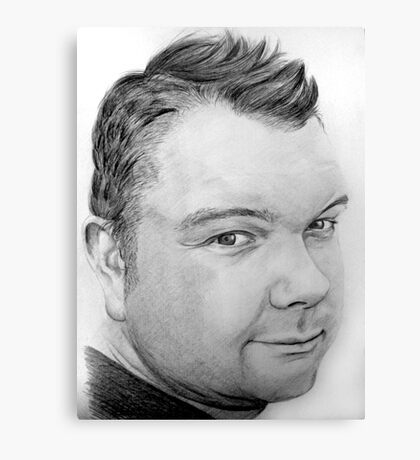 Stephen Pencil Portrait Canvas Print