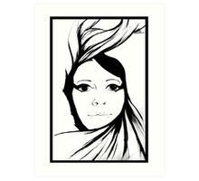 Self portrait - Swirl Art Print