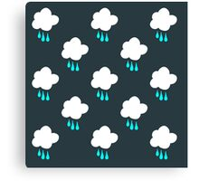 Rain Cloud Pattern Canvas Print