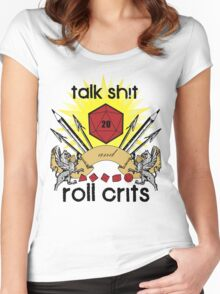 Talk Sh!t Women's Fitted Scoop T-Shirt
